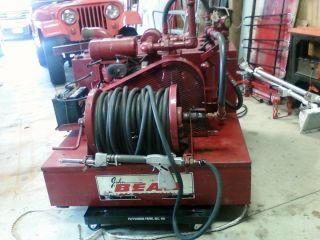 John Bean Pickup Truck Mounted Self Contained Fire Pump Water Tank Hose Reel