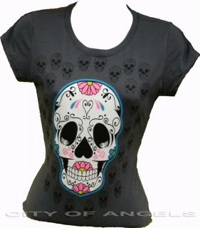 Dia de Los Muertos Mexican Sugar Skull Women Funny T Shirt Day of The Dead New