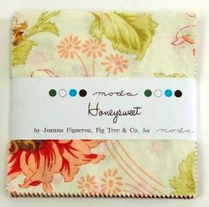 "Honeysweet Moda Fabric 42 5"" Squares Charm Pack Fig Tree Quilts"