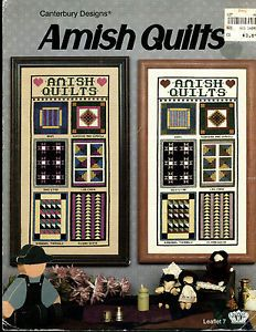 Canterbury Designs Amish Quilts Counted Cross Stitch Pattern
