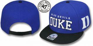 Duke Blue Devils '47 Brand Blockshed Snapback Cap Hat