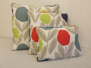 Laura Ashley Serena Retro 50s 60s Inspired Print Cotton Fabric Cushion Cover
