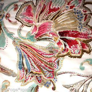 Ralph Lauren Antigua Paisley 7pc Queen Comforter Set Sheet Sham Floral Blue