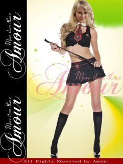 Sexy Naughty School Girl Top Skirt Halloween Costume