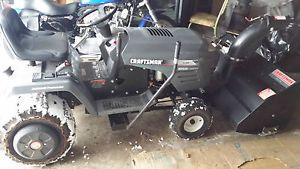 "Craftsman Riding Mower with Snow Blower and 42"" Cutting Deck"