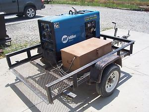 Miller Bobcat 250 NT Portable Welder Generator Gas with Trailer Job Box