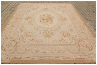 8x10 Aubusson Area Rug Antique Pastel Colors Country French Decor Free SHIP