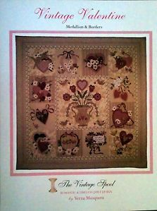Vintage Valentine Block of The Month Bom Quilting Quilt Applique Pattern