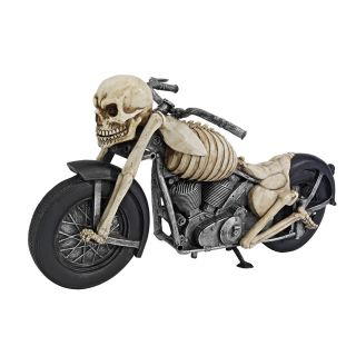Ghost Rider Skeleton Old School Chopper Motorcycle Rider Biker Sculpture