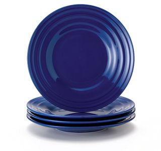 Rachael Ray Double Ridge 4 Piece Salad Plate Set 8 Inch