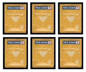 6 Packs Red Star Pasteur Champagne Yeast Fruit Wine Whites Soda Cider PORT5