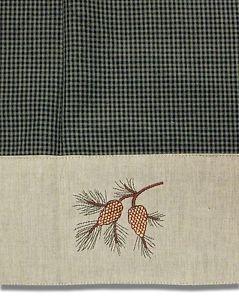 Pine Cone Shower Curtain Pinecone Lodge Fabric Shower Curtain Bath