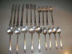 Vintage Lot of 20 2lb Eternally Yours 1847 Rogers Bros Silver Plate Flatware Set
