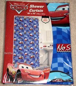 Disney Cars Lightning McQueen Bathroom Shower Curtain