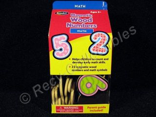 Rose Art Magnetic Wood Numbers Math Number Magnets