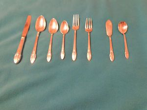 "1847 Rogers Bros ""First Love"" Sterling Silver Flatware Set 52 PC"