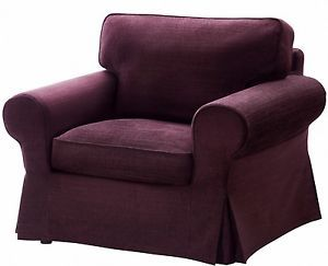 ... IKEA Ektorp Armchair Cover Tullinge Lilac Purple Chair Slipcover Lila  New NIP ...