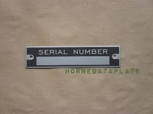 Dodge Serial Number Data Plate ID Tag Zinc