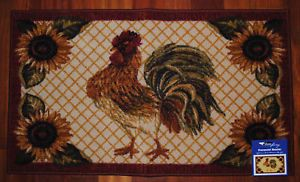 Shaw Rooster Rug Sunflower Country Chicken Mat Farm New