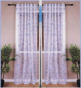 "Blue Butterfly 2 x Panels Sheer Curtains 57"" x 96"" New SEALED"