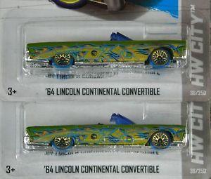 Hot Wheels 2013 Treasure Hunt '64 Lincoln Continental Lot of 2 Brand New