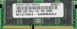 64MB Edo Memory RAM 60ns SODIMM 144 Pin 3 3V