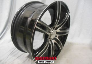 4 Used 18x8 5x100 5x114 3 5 100 5 114 3 Alpina Black Machined Face Wheels Rims