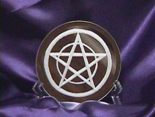 Pentagram Altar Tile Etched Mirror Wicca Wiccan Pagan