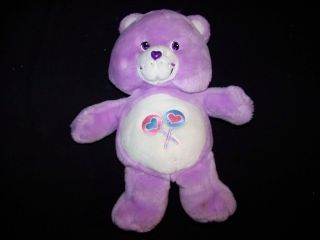 "Care Bears 2003 Share Bear 12"" Singing Talking Moving Electronic Plush Toy"