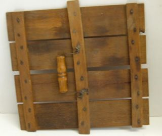 Vintage Wooden Slat Egg Crate Carrier Country Chicken