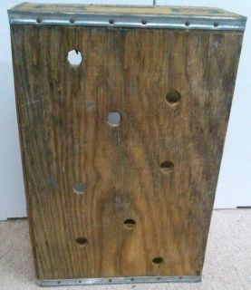 Canada Dry Vintage Wooden Soda Case Bottle Carrier Box Wood Crate Collectible