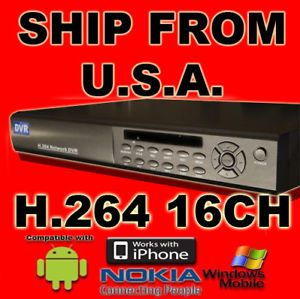 16 CH Channel Standalone DVR H 264 iPhone CCTV Security