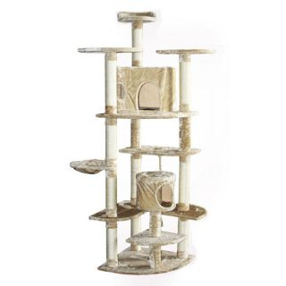 "80"" Huge Big Tall Cat Tower Tree with Condo Scratcher Furniture Play House Post"