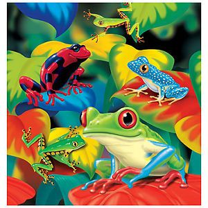 Fun Frogs Birthday Party Plastic Tablecover Tableware
