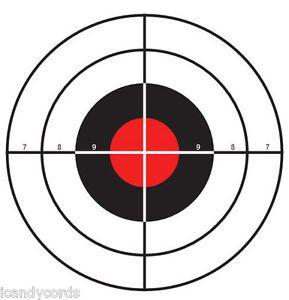100 Red Dot Cross Hair Practice Shooting Target Range Hand Gun Paper Targets