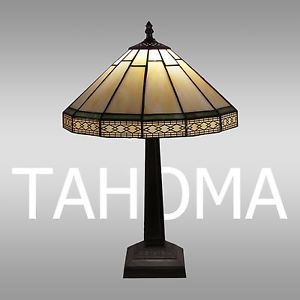 Great New Elegant Sonoma Tiffany Style Stained Glass Mission Palouse Table Lamp