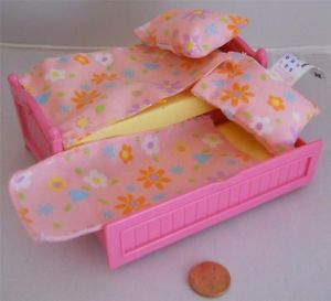 Girl Pink Twin Single Trundle Bed Bedroom Fisher Price Loving Family Dollhouse