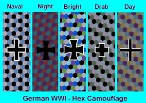 1 144 Decals WWI German Hex Lozenge Naval Day Night Bomber YK 39