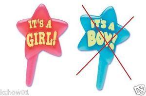 Baby Shower Its A Boy Its A Girl Cupcake Picks Cake Topper Mix N Match U Choose