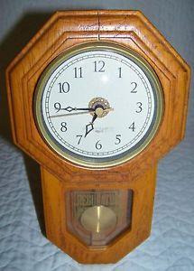 Seiko Qxh048blh Dual Chime Pendulum Wall Clock 12 75w In