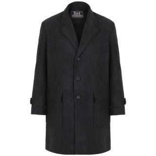 Men's Military Double Breasted Woollen Smart Winter Pea Coat Jacket Warm Outdoor