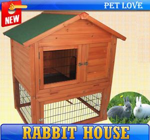 New Frugah A Frame Rabbits House Chicken Coop Bunny Hutch Poultry Box Hen Home