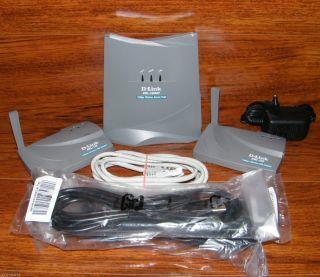 D Link DWL 1000AP 11MB Wireless LAN Access Point 2 DWL 100 Adapters 802 11b