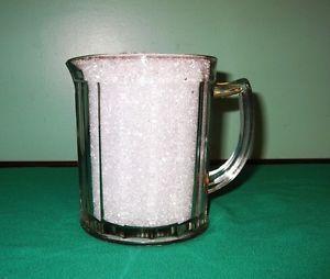 Vintage Glass Water Pitcher Hazel Atlas Glass Pitcher Beer Pitcher Heavy