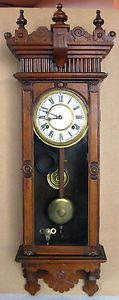 Antique Waterbury Brockville Regulator Wall Clock