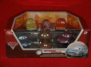 Disney Pixar Cars 2 Spy Battle Die Cast Car 6pc Toy Set Grem Mater Acer Finn