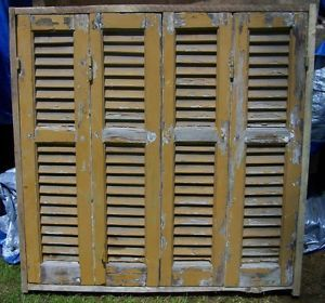 5 Interior Victorian Wood Shutters Antique Louver Window