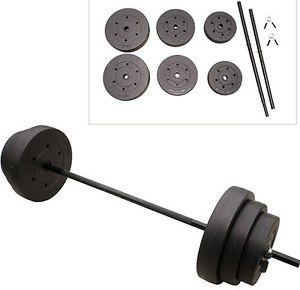 100 lbs Weights Gold's Gym Weight Lifting Plates Steel Bar Collars 6 Plates