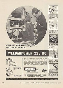 Vintage 1966 Lincoln Welders Weldanpower 225DC Advertisement Welding