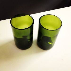 Recycled Wine Bottle Drinking Tumbler Glass